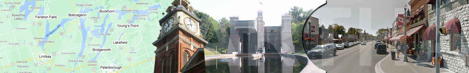 Kawartha Lakes' Bobcaygeon at Ontario Sturgeon Lake and Pigeon Lake at  The Trent Severn Waterway, Lock 32
