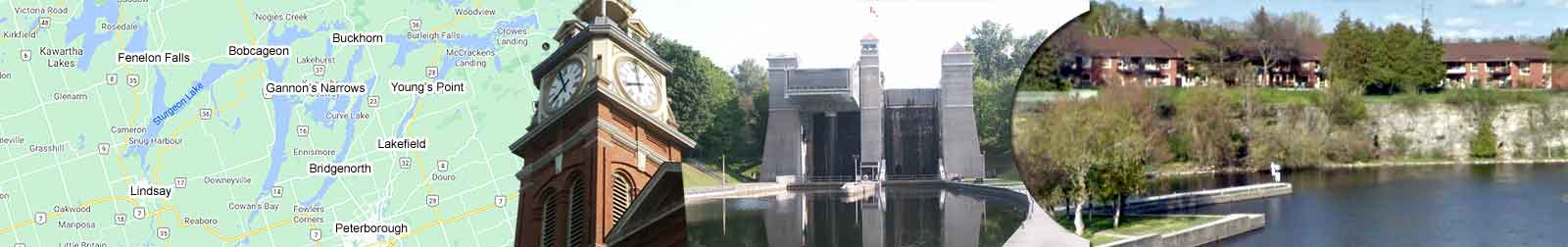 Kawartha Lakes' Fenelon Falls Ontario at Sturgeon Lake and Cameron Lake at The Trent-Severn Waterway, Lock 34