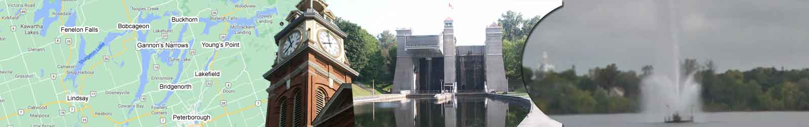Peterborough Ontario's Hydraulic Lift Lock, Trent-Severn Waterway lock 21, start of the kawartha lakes as it was.