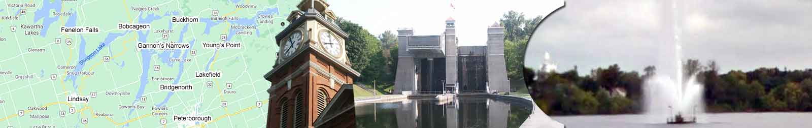 Kawartha Lakes world's highest hydraulic Lift Lock at Peterborough Ontario at The Trent Severn Waterway Lock 21